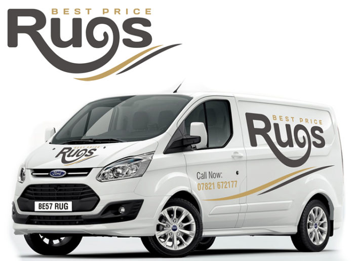 Logo, stationery and vehicle livery for Fife-based rug business Best Price Rugs