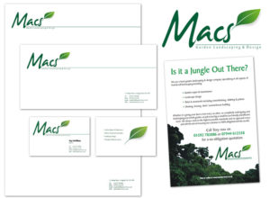 Logo, stationery and marketing materials for Macs Garden Landscaping & Design