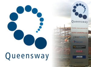 Logo and signage design for Fife Council's Queensway Industrial Estate