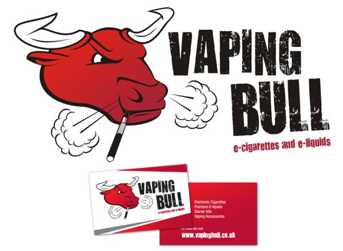 Logo, stationery and e-commerce website for e-cigarettes and e-cigarettes vendor Vaping Bull