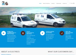 Website for Fife Electrical Firm 24 Electrics