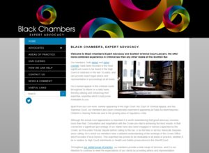 Website for Black Chambers Criminal Law Advocacy Chambers