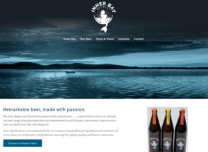 Website for Fife-based micro brewery Innerbay