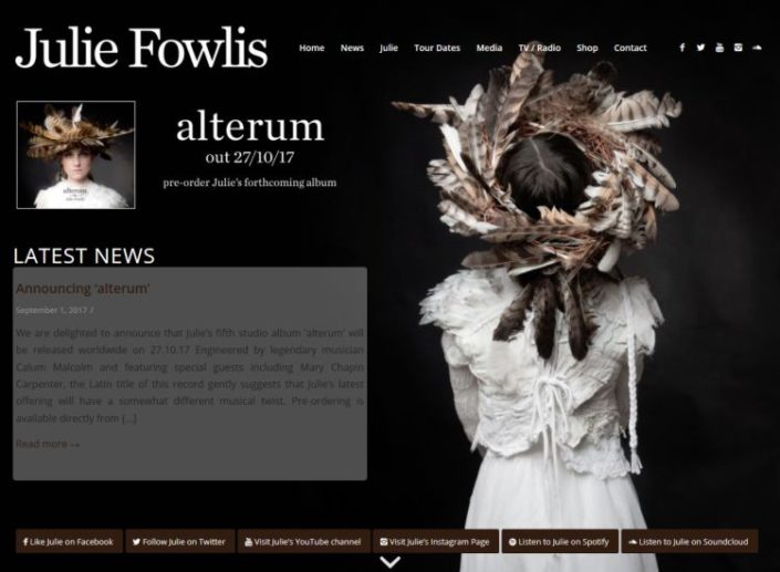 Website for Scottish singer Julie Fowlis