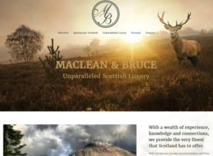 Website for Scottish Luxry Experiences Operator, Maclean & Bruce