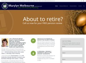 Website for Financial Adviser Marylyn Melbourne
