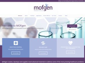 Website for Mofgen, a Fife-based Medical Science Organisation