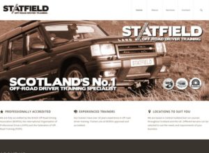 Website for Off-Road Driver Training company, Statfield Training